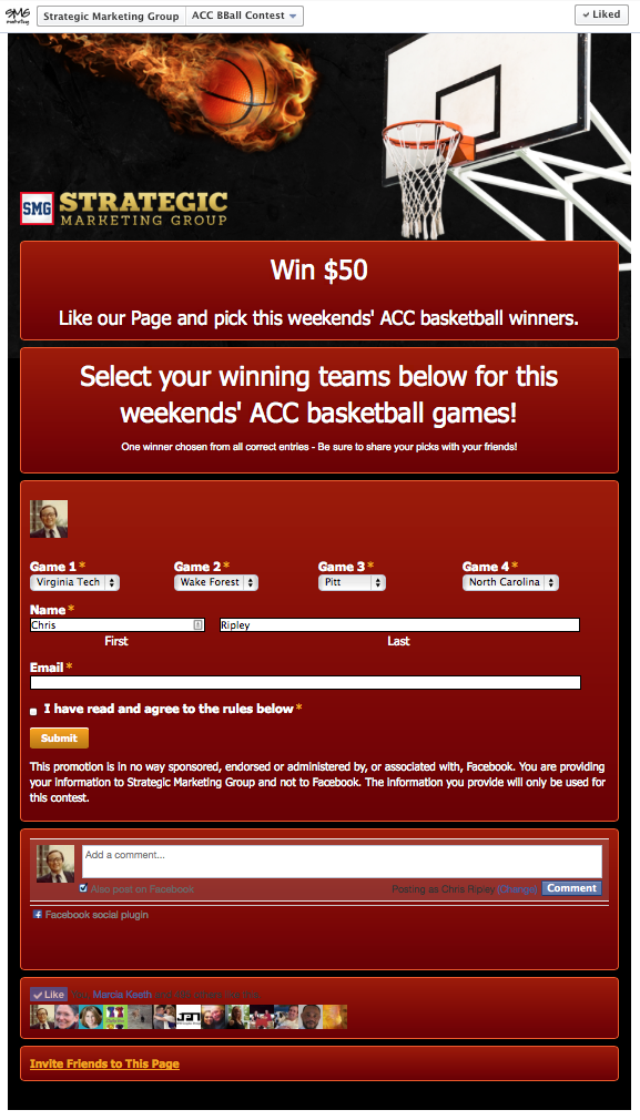 Facebook March Madness App