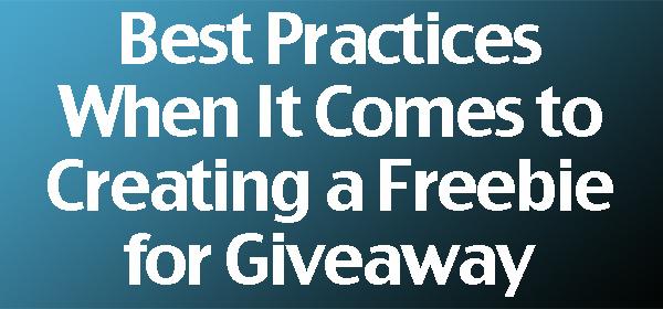 Freebie Giveaway