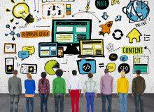 Diversity Casual People Responsive Design Content Concept